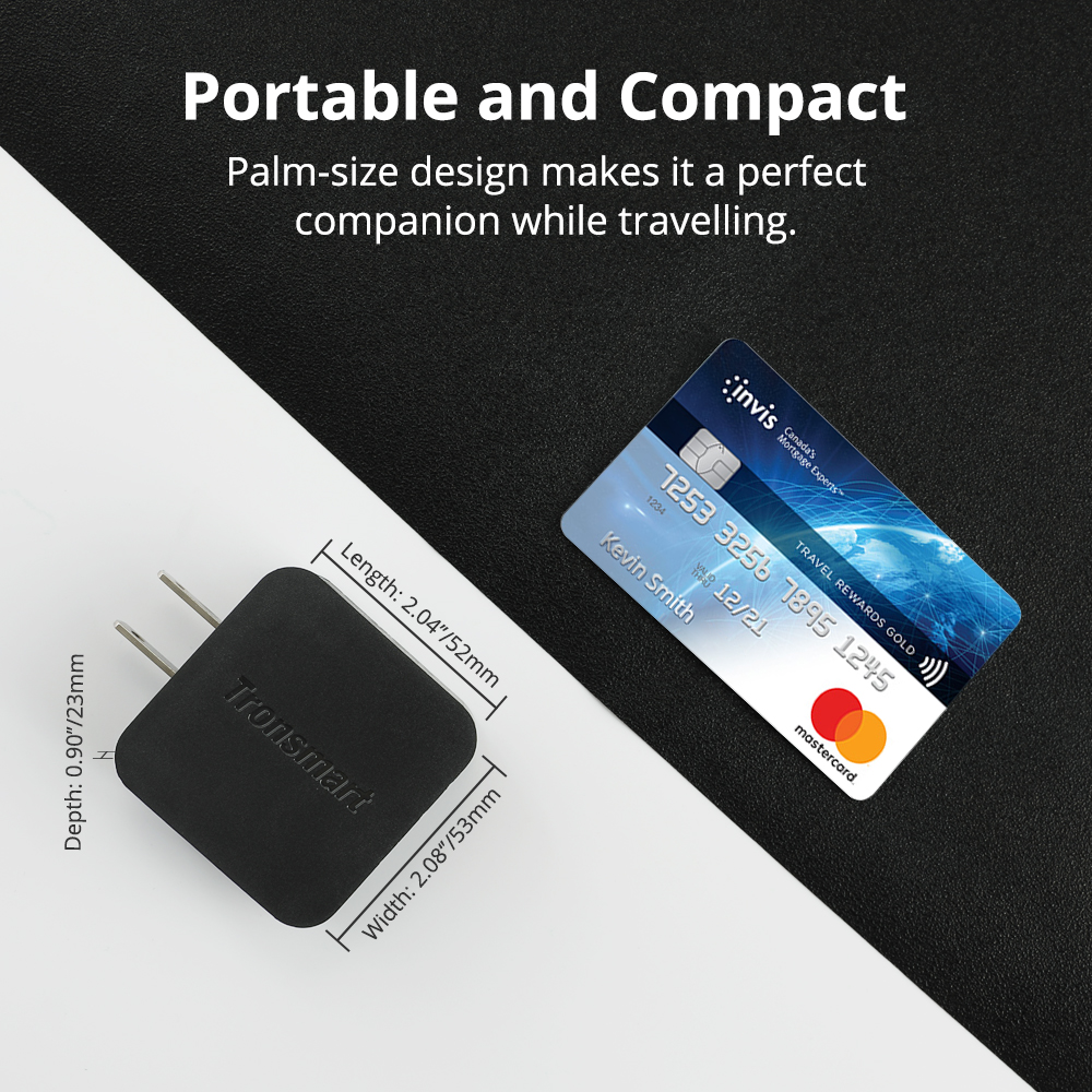 Portable and Compact Palm-size design makes it a perfect companion while traveling.